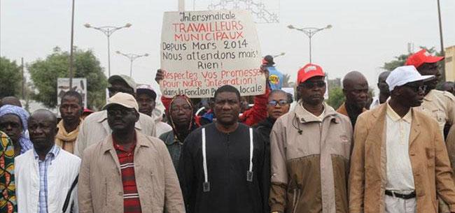 Grève de 96h : L'intersyndicale des travailleurs des Collectivités locales remet ça
