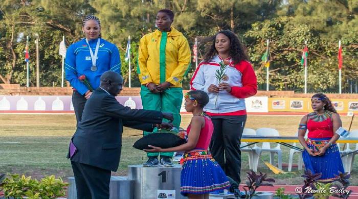 20E championnats d'Afrique d'athlétisme : notre compatriote Amy SENE en haut du podium  (photos)