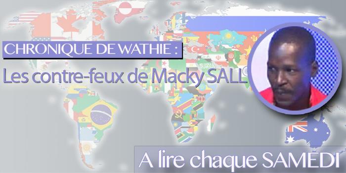 Les contre-feux de Macky SALL