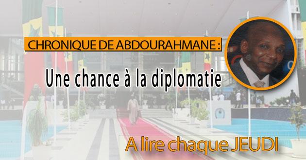 Une chance à la diplomatie