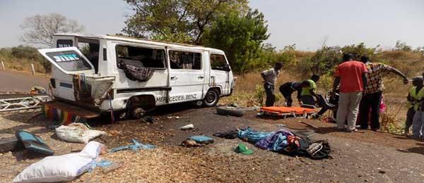 Accident de la circulation sur la route de Kaffrine : 15 morts, plusieurs blessés