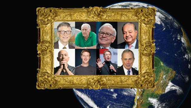 Ces 8 hommes possèdent autant que la moitié la plus pauvre de la planète