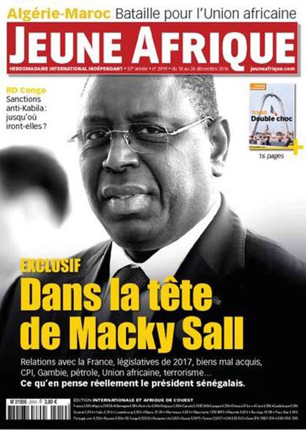 Macky dans les filets du magazine Jeune Afrique