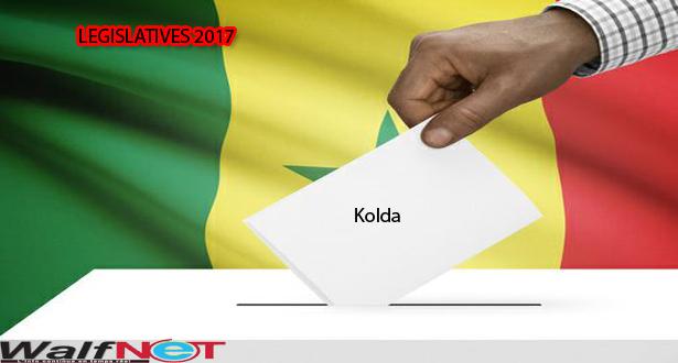 Résultats provisoires / département de  Kolda, selon la CDRV