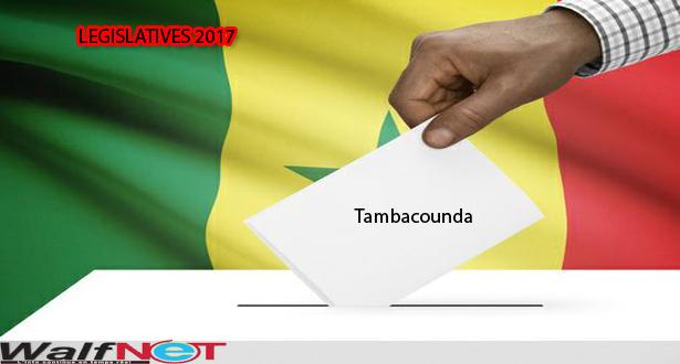 Résultats provisoires / département de  Tambacounda, selon la CDRV