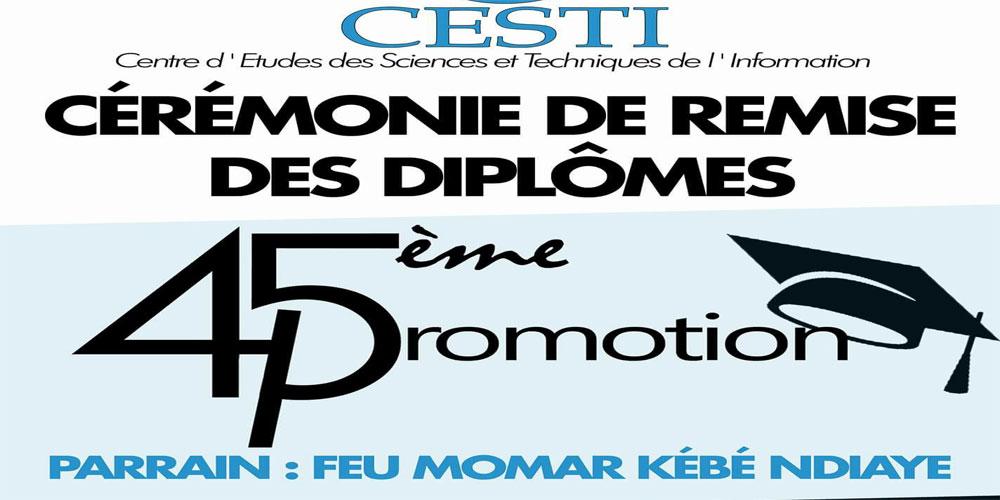 Sortie 45e promotion du CESTI: 27 nouveaux journalistes ont reçu leur parchemin