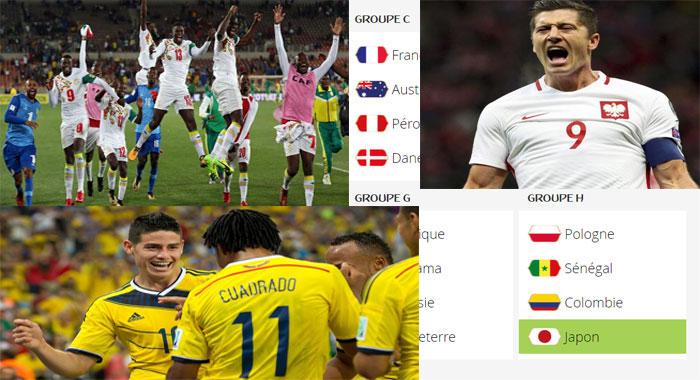 GROUPE H : avec Jamez Rodriguez (Colombie), Lewandowski (Pologne), les Lions auront fort à faire