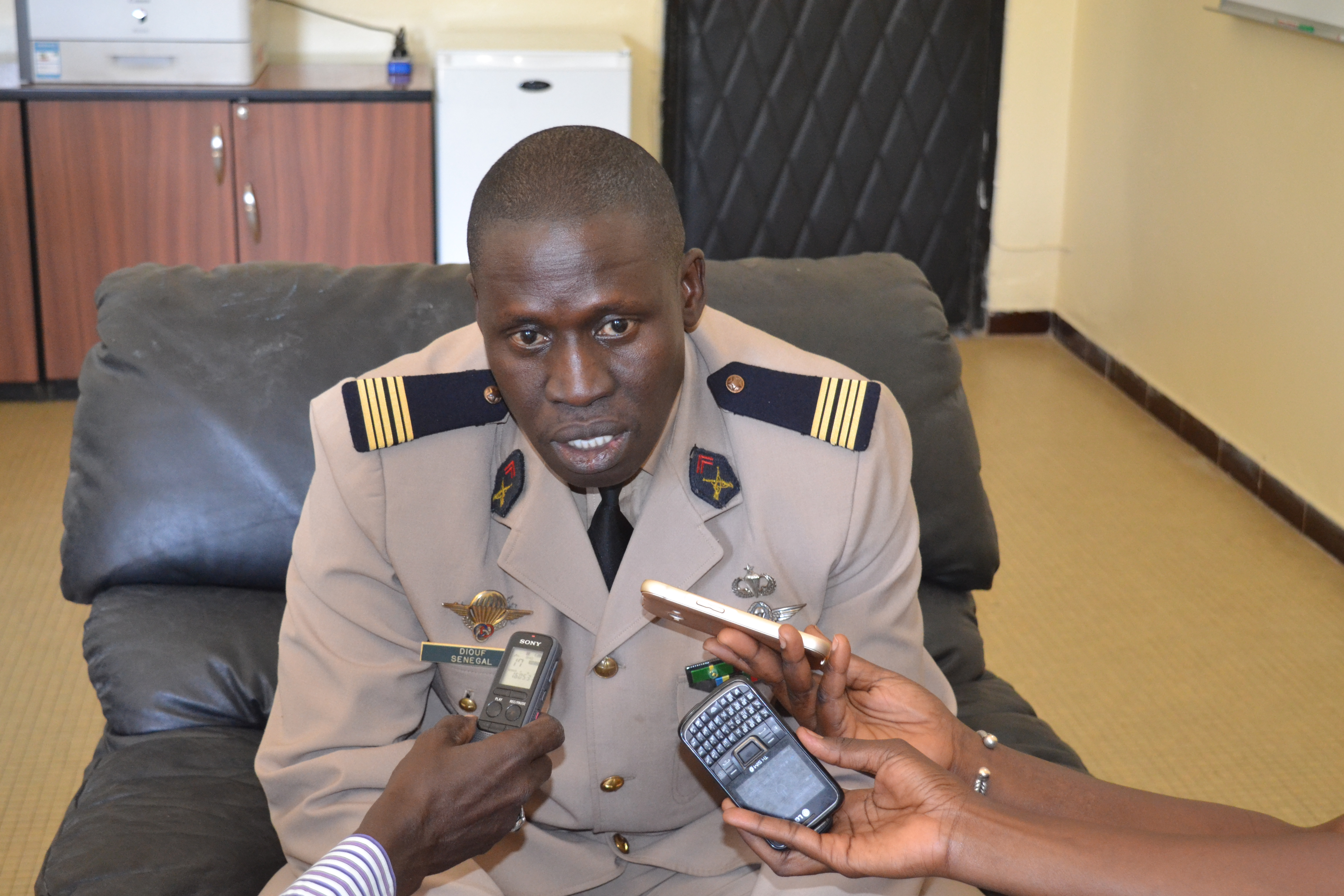 Le colonel Khar DIOUF chargé de la traque des auteurs de l'exécution de Boffa