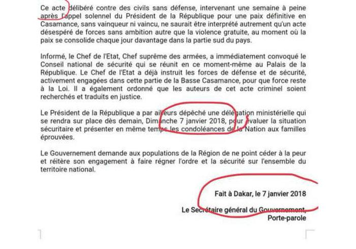 Communiqué du gouvernement plein d'erreurs : Seydou GUEYE perd sa sérénité
