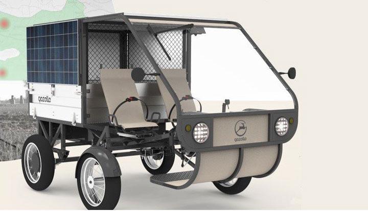 Maquette du premier véhicule solaire fabriqué au Sénégal par des étudiants