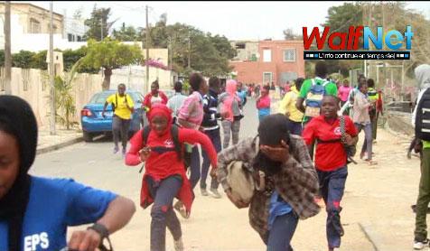 Lycée Blaise DIAGNE: les élèves boycottent les compositions, la police veille au grain (vidéo)