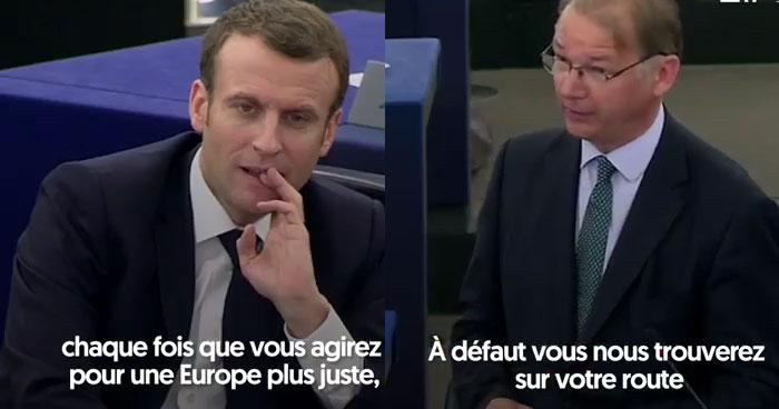 Macron pris à partie par un député belge (vidéo)