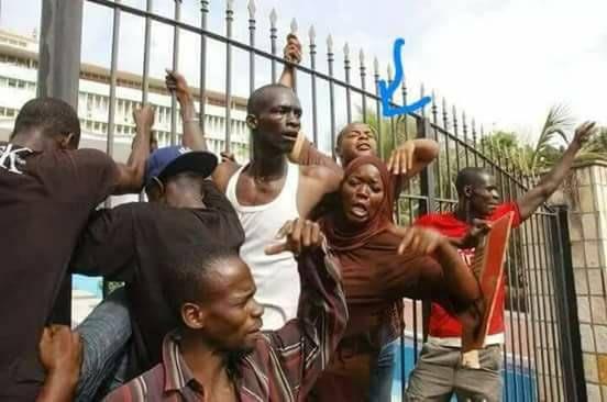 Arrêt sur image : Mame Mbaye NIANG s'agrippe aux grilles de l'Assemblée