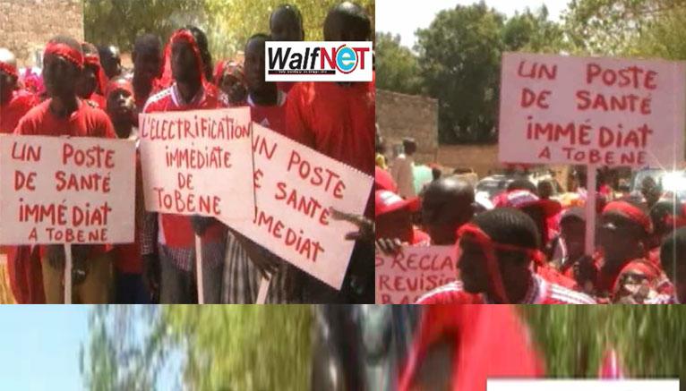 Tobène : les populations étalent leur colère dans la rue