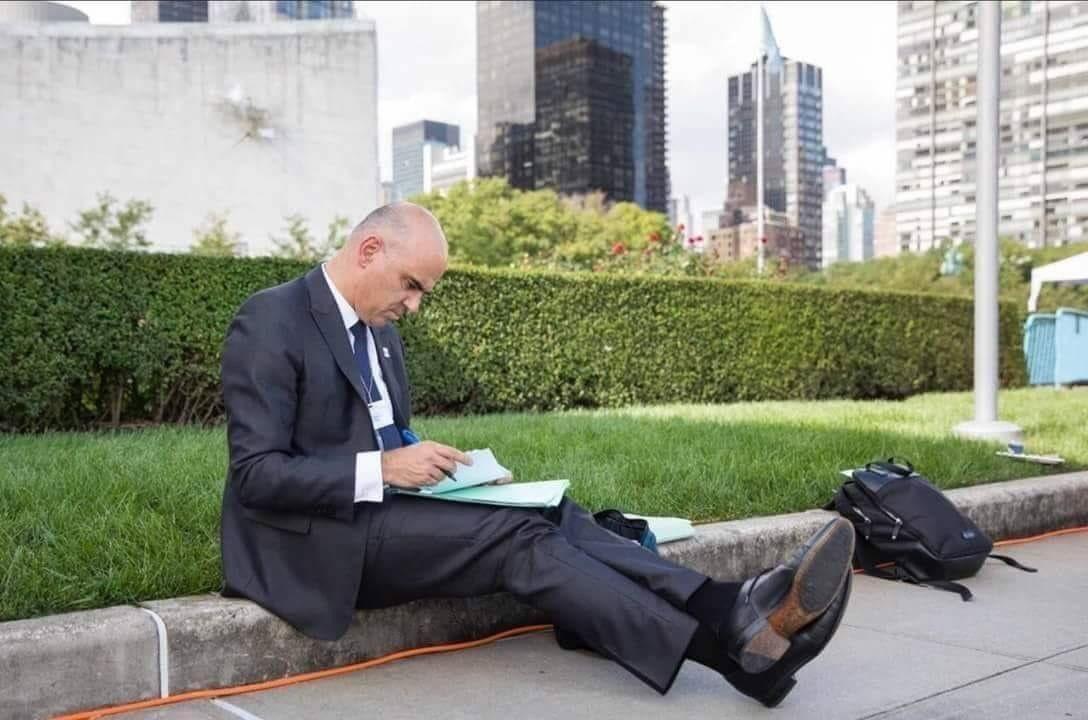 Le Président suisse Alain Berset à l'AG de l'ONU à New York