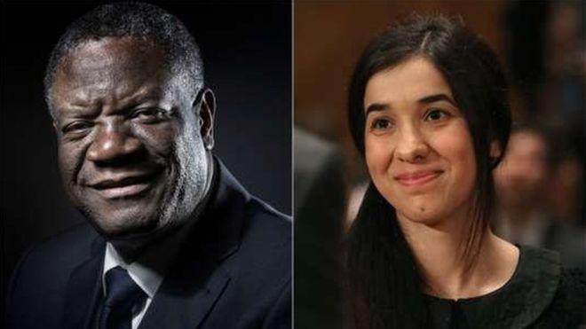 Le Prix Nobel de la Paix attribué au tandem Denis Mukwege – Nadia Murad