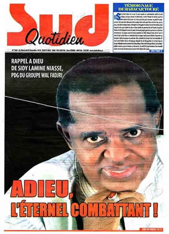 Mort d'un héraut  (Par Mamadou NDIAYE)