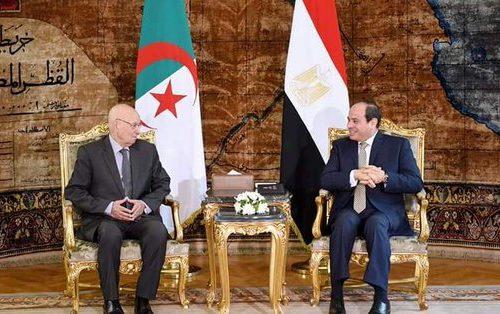 Avant la finale de la CAN : le général Bensalah reçu par le maréchal al-Sissi au Caire