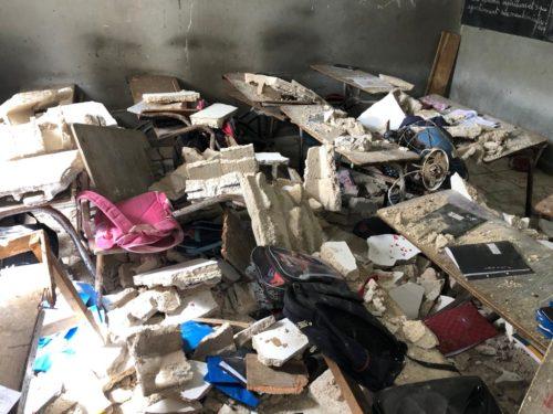 Guédiawaye: Effondrement du plafond d'une salle de classe, la catastrophe évitée de justesse