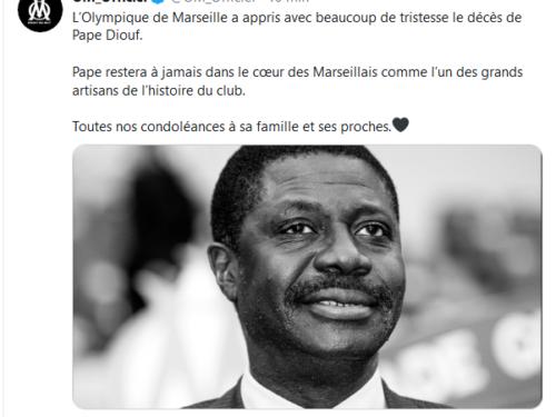 L'Olympique de Marseille rend hommage à son illustre Président