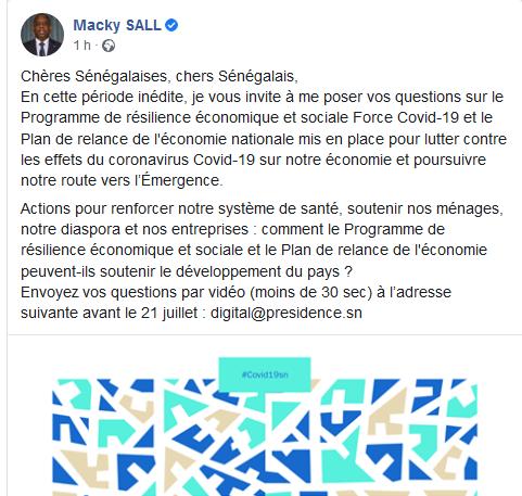 Macky s'ennuie, il invite les Sénégalais à lui poser des questions sur…