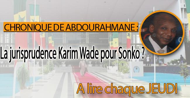 La jurisprudence Karim Wade pour Sonko ?