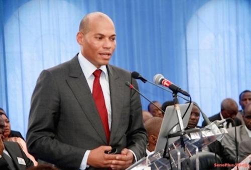 Déclaration de candidature : Karim WADE parle