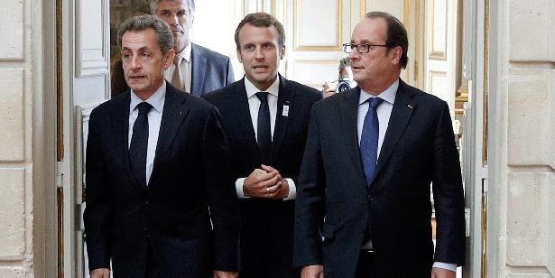 Macron, Sarkozy et Hollande réunis pour célébrer «la France plus forte»