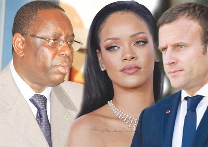 VUE DE LA PRESSE    : Rihanna éclipse Macron et Macky