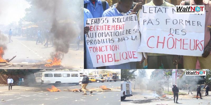 «Ras-le-bol du chômage», les étudiants de l'ENDSS brûlent tout (Vidéo)