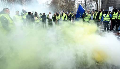 Manifestation : les Belges enfilent les gilets jaunes