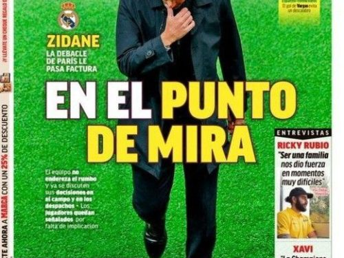 Real :  la presse madrilène taille Zidane