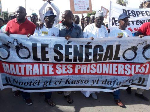 Marche: la société civile dénonce l'enfer des détenus (Photos)